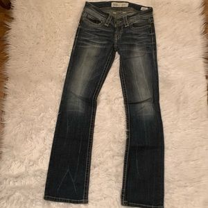 BKE Denim Stella Slim Boot Cut Jeans Size 26X 31.5